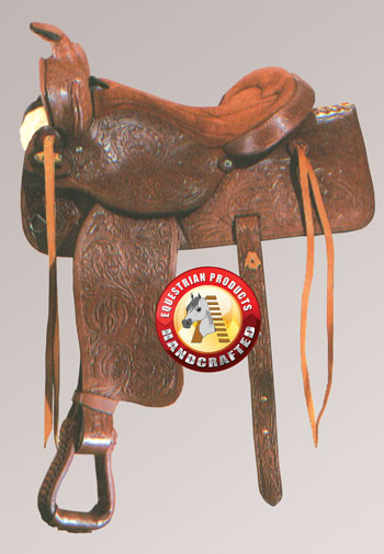 how to put a cinch on a western saddle